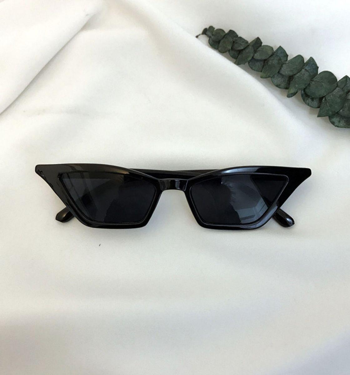 1914cee92 óculos de sol noir / cat eye gatinho vintage retrô mini acetato preto -  óculos sem