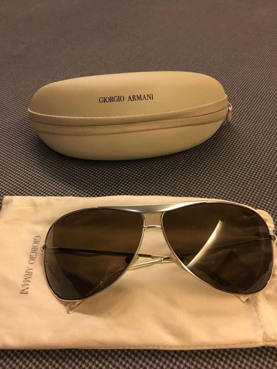 275be97e6 óculos de sol giorgio armani - modelo aviador - óculos giorgio armani