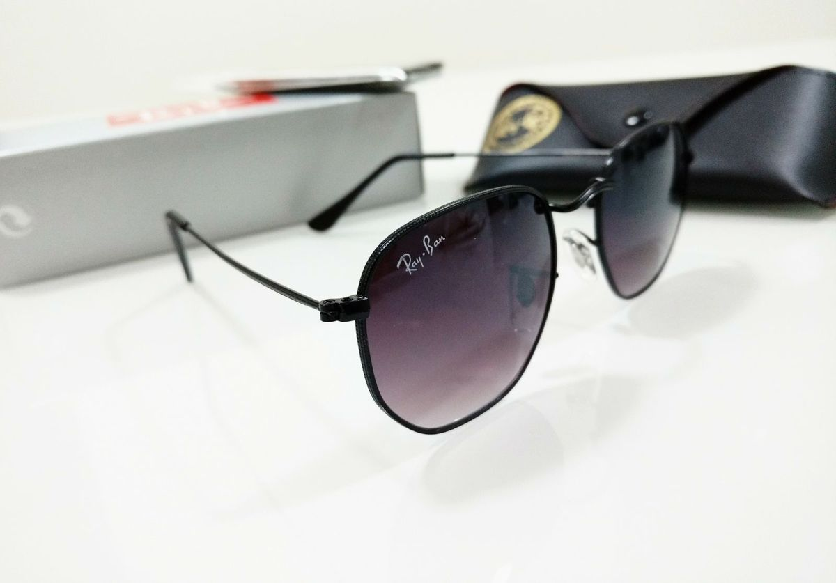 Óculos de Sol Hexagonal Preto Ray Ban Round Degradê Feminino e Masculino   Óculos  Feminino Rb Nunca Usado 29568745   enjoei 94a800049a