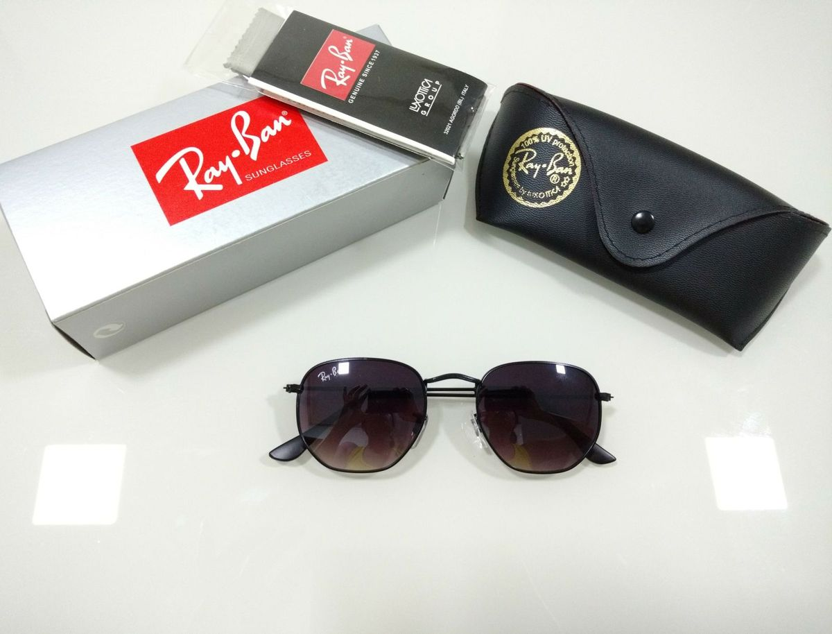 27c41f3e7d735 óculos de sol hexagonal preto ray ban round degradê feminino e masculino -  óculos rb