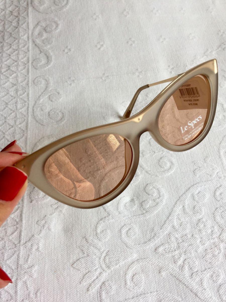 f542bcc61 óculos de sol le specs enchantress de gatinho rosa pink original - óculos le -specs