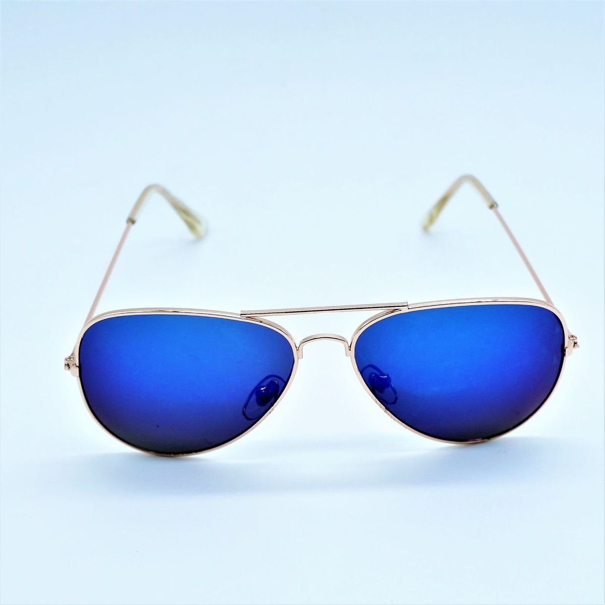 Oculos de Sol Masculino Azul Espelhado   Óculos Masculino Nunca ... a65a4cc667