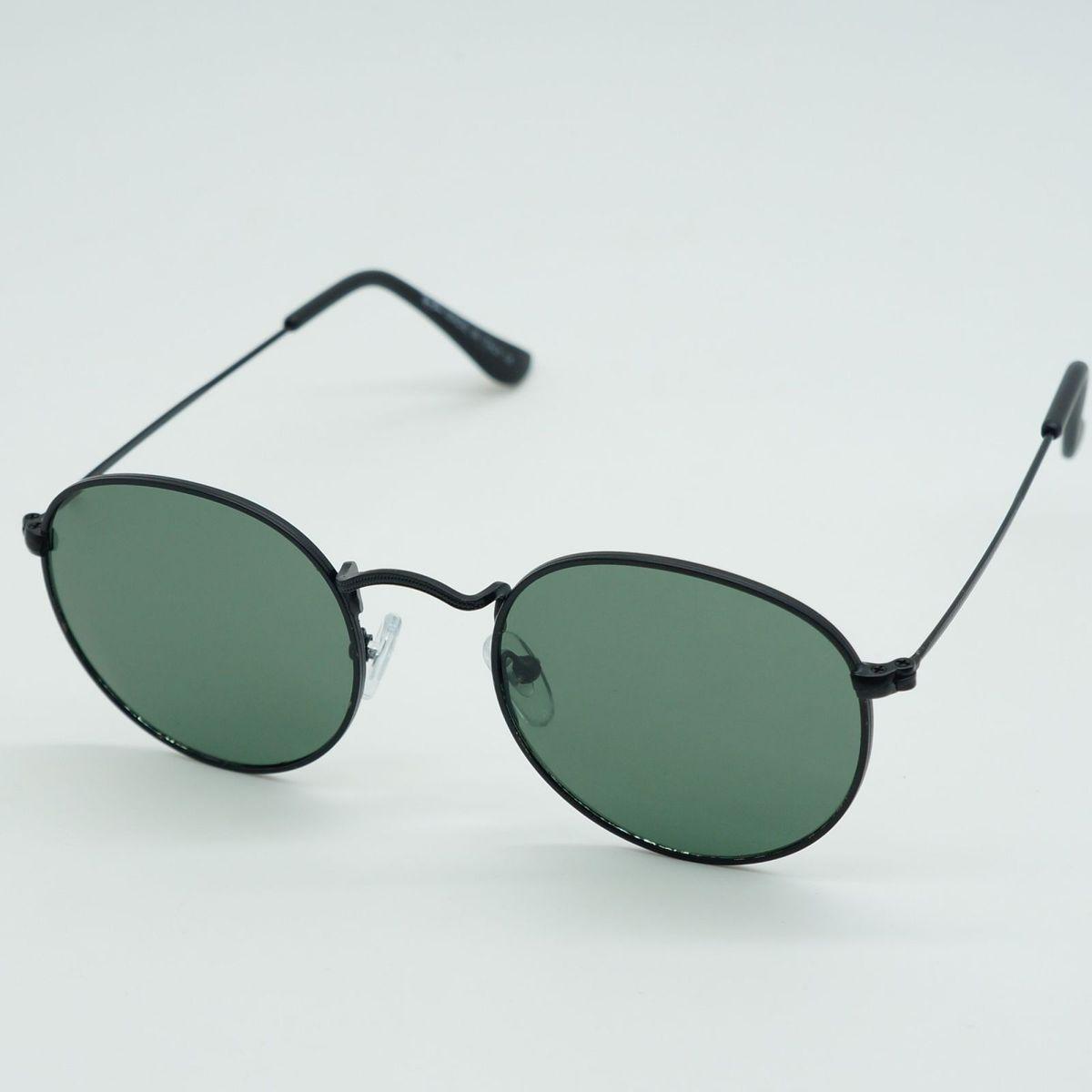 9fc184cce80c1 Oculos de Sol Masculino Feminino Redondo Preto   Óculos Masculino ...