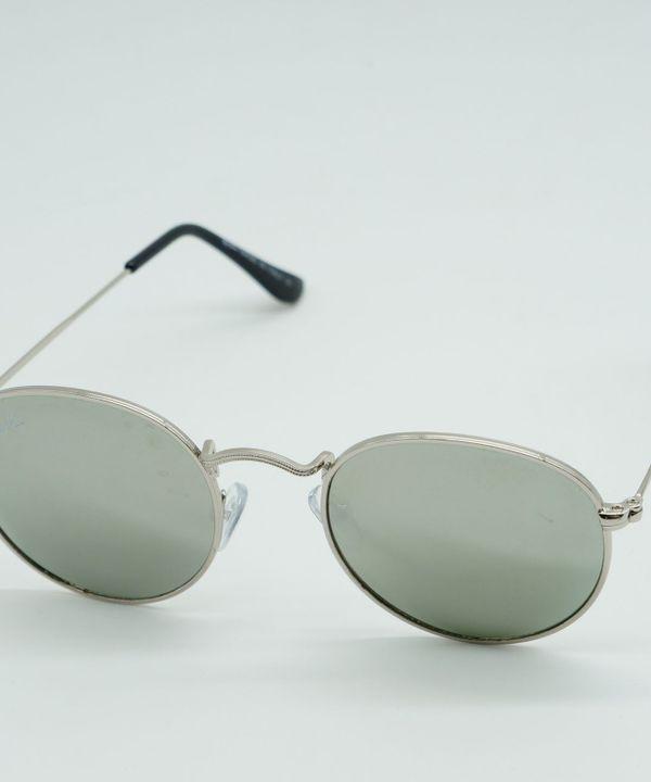 48db6c8c79ab8 Oculos de Sol Masculino Redondo Prata Cinza Espelhado Proteção Uva Uvb    Óculos Masculino Nunca Usado 29071184   enjoei