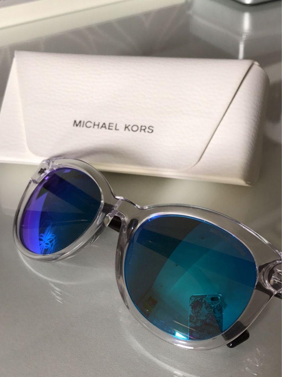 Óculos de Sol Michael Kors Espelhado Azul   Óculos Feminino Michael ... 60bab84e07