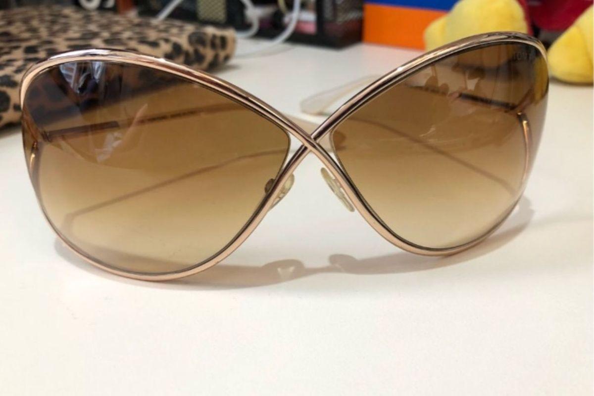 d073aca00cd38 óculos de sol miranda dourado tom ford a cara da riqueza original - óculos  tom-