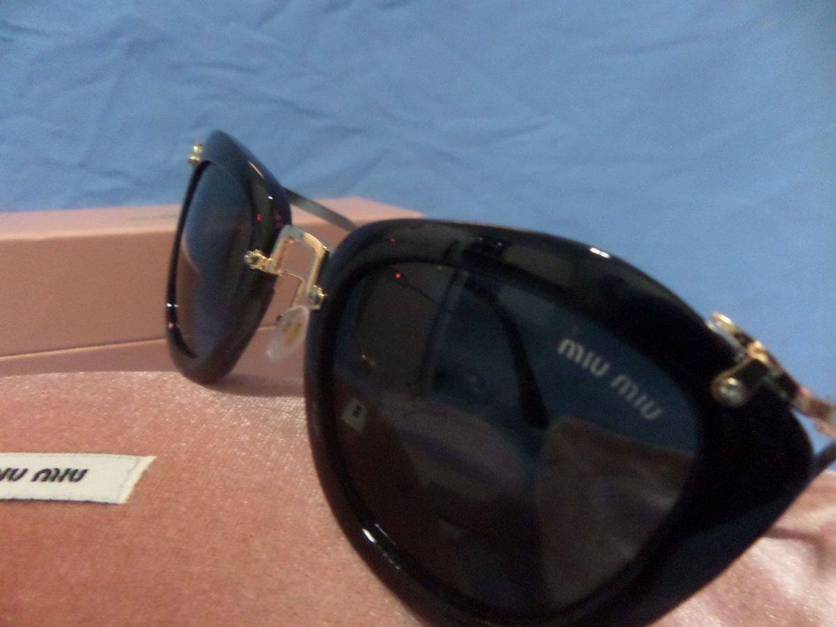 8b4b86f85a67a Óculos de Sol Miu Miu Noir Preto com Kit Completo Original Importado ...