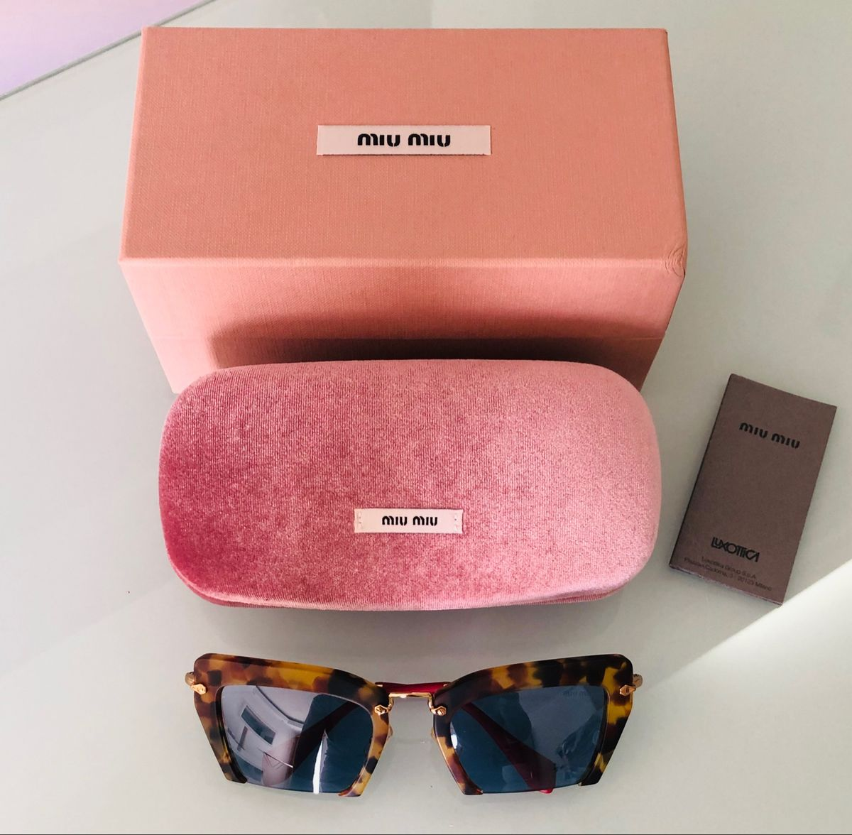 óculos de sol miu miu - óculos miu-miu