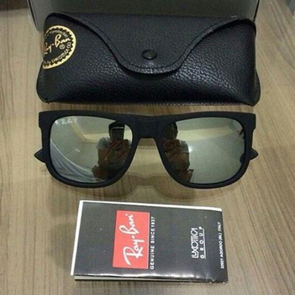 a51d2e652 Óculos de Sol Modelo Justin Rb4165 Espelhado Prata Unissex | Óculos ...