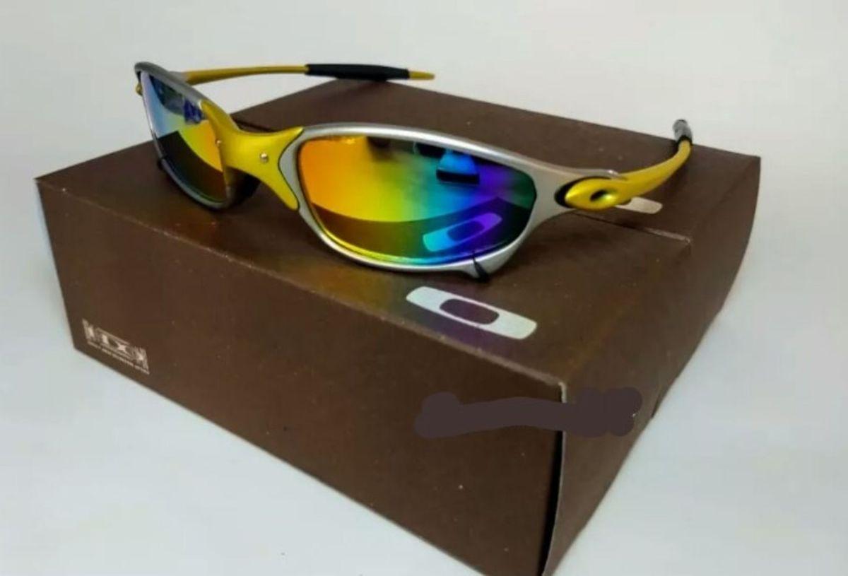 Óculos de Sol Oakley Juliet 24k Lente Arco Iris Xmetal Novo Na Caixa   Óculos  Masculino Oakley Nunca Usado 29869432   enjoei 3fab4373f2