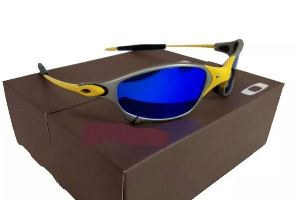 Óculos de Sol Oakley Juliet 24k Lente Azul Xmetal Novo Na Caixa   Óculos  Masculino Oakley Nunca Usado 29868186   enjoei e51670f100