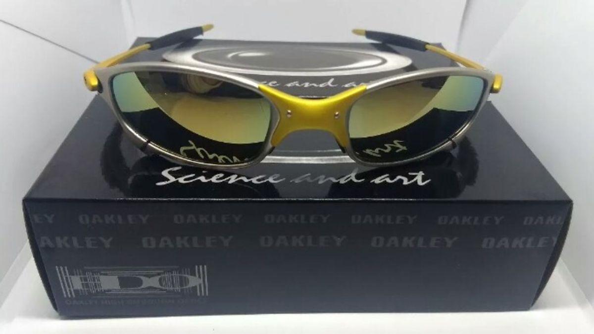 óculos de sol oakley juliet 24k xmetal novo na caixa - óculos oakley c027023e40