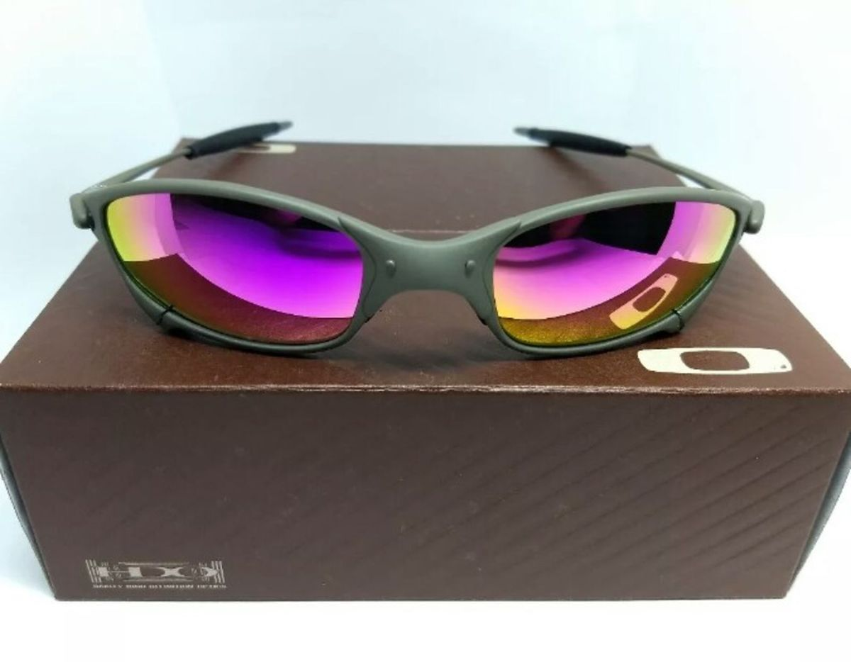 4153257b4 óculos de sol oakley juliet xmetal lente polarizada rosa novo na caixa - óculos  oakley