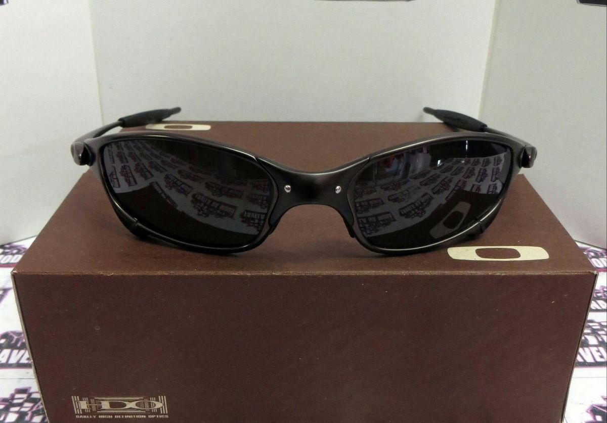 óculos de sol oakley juliet xmetal toda preta novo na caixa - óculos oakley f62fbe7984