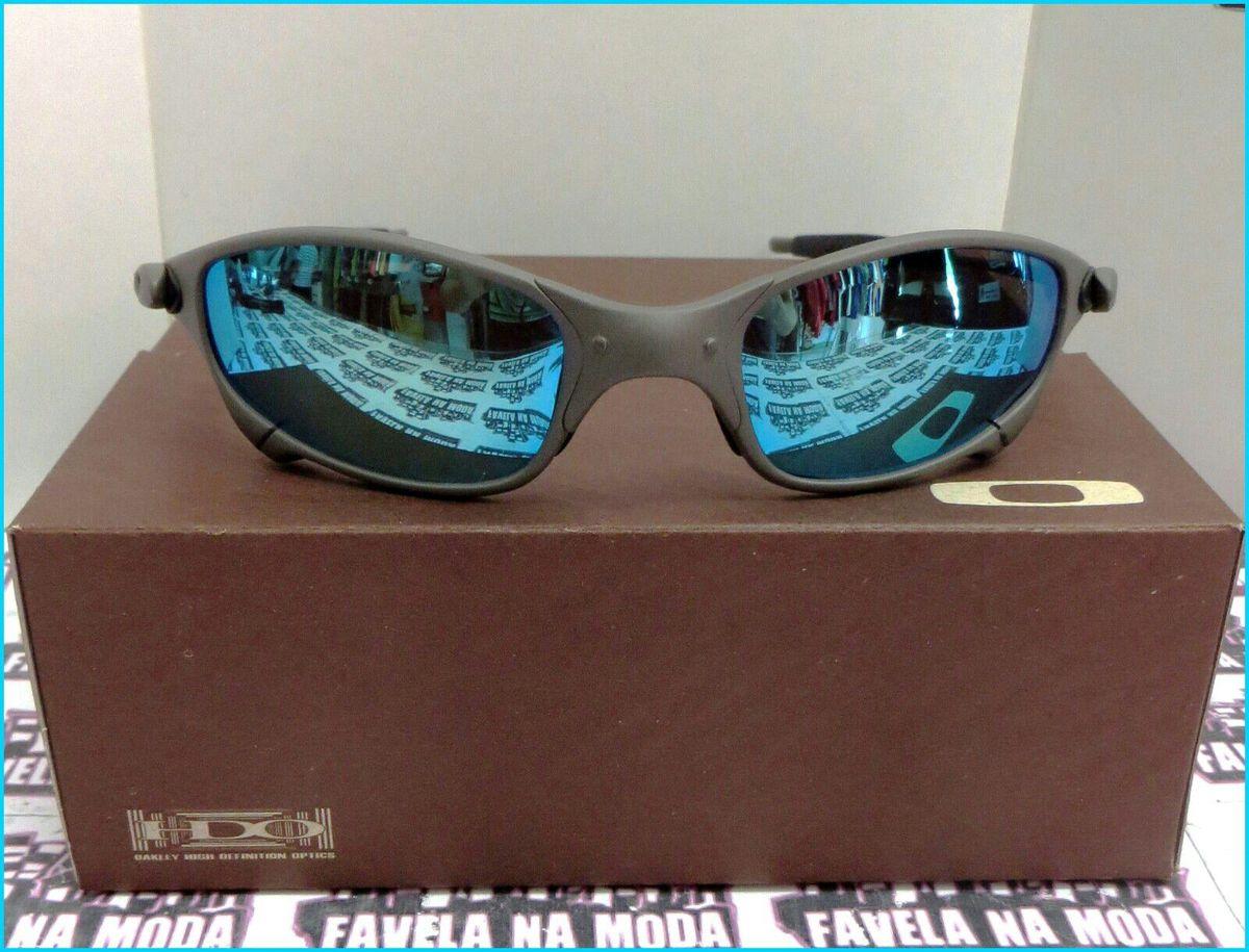 fb7d4ff3c óculos de sol oakley juliet xmetal lente polarizada azul bb novo na caixa - óculos  oakley
