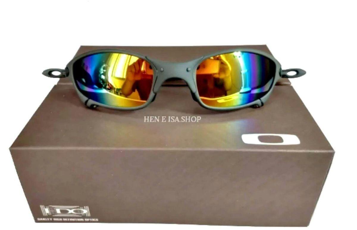 ec42f5155 óculos de sol oakley juliet xmetal lente polarizado arco íris novo na caixa  - óculos oakley