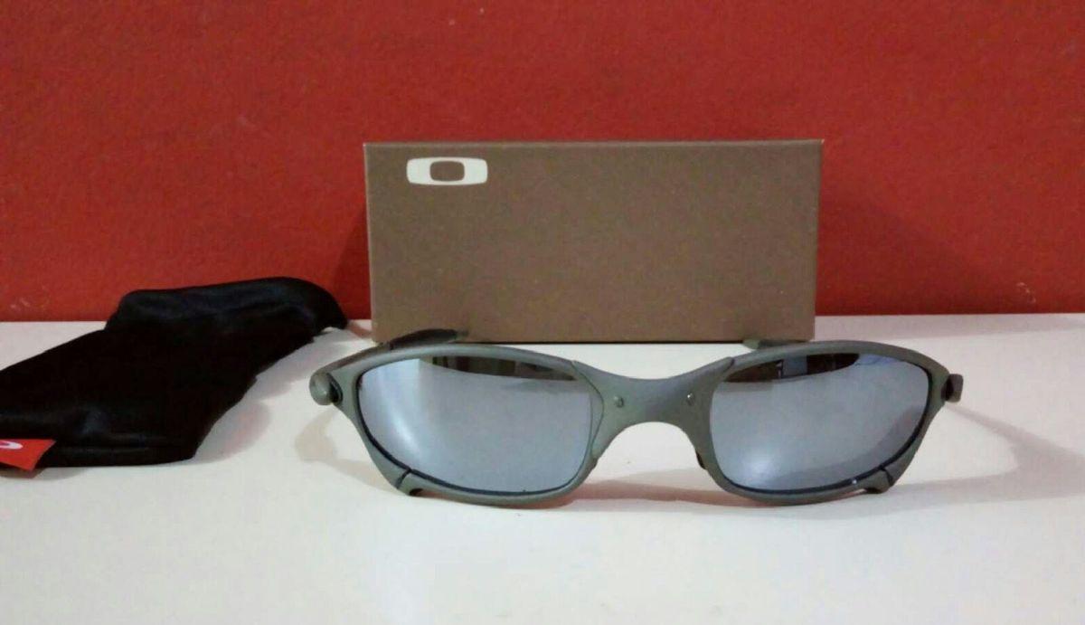 6744dfed3 óculos de sol oakley juliet xmetal polarizado novo na caixa - óculos oakley