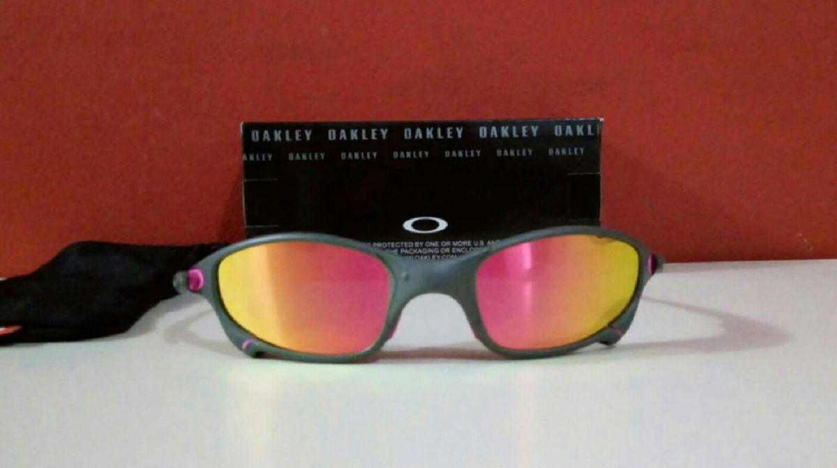 1437c056c óculos de sol oakley juliet xmetal polarizado rosa novo na caixa - óculos  oakley
