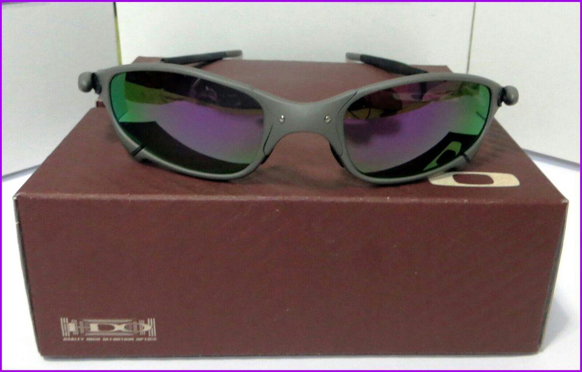 13f57ad3b óculos de sol oakley juliet xmetal lente polarizado roxa novo na caixa - óculos  oakley