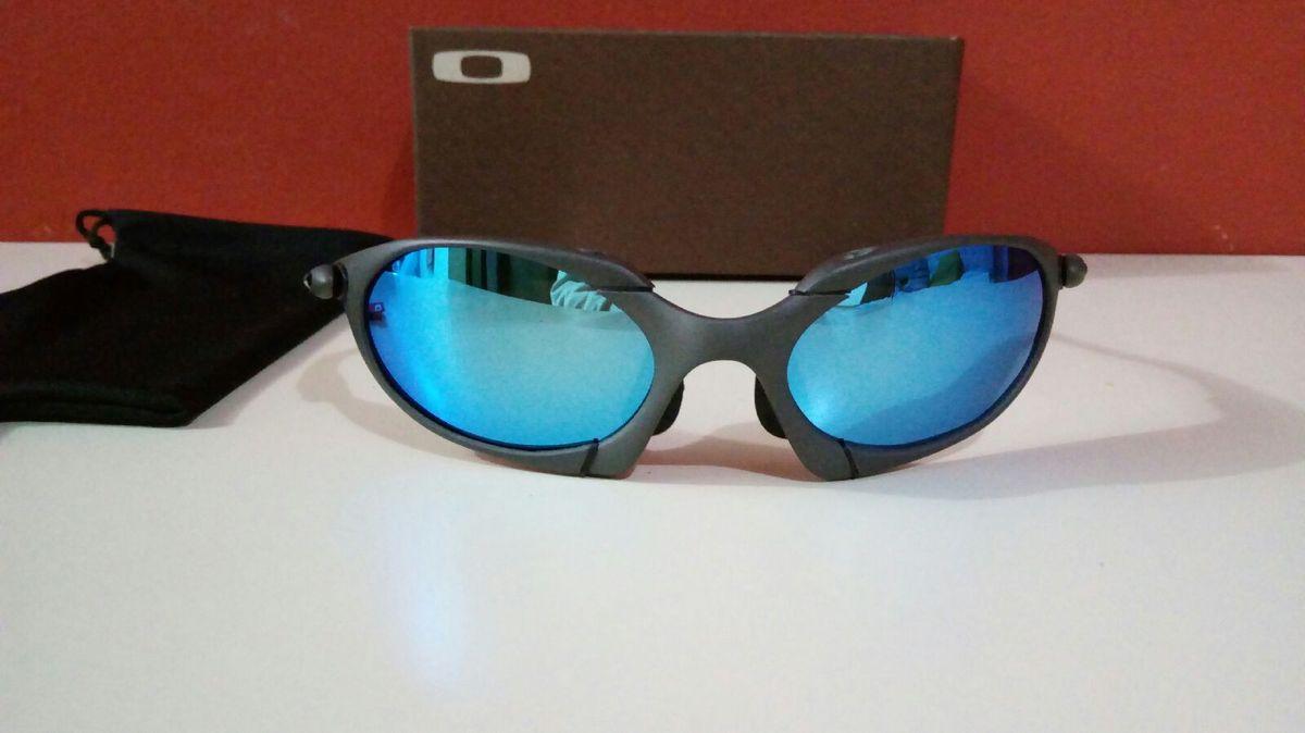 800513524 óculos de sol oakley romeo 1 qzul ice xmetal polarizada novo na caixa - óculos  oakley