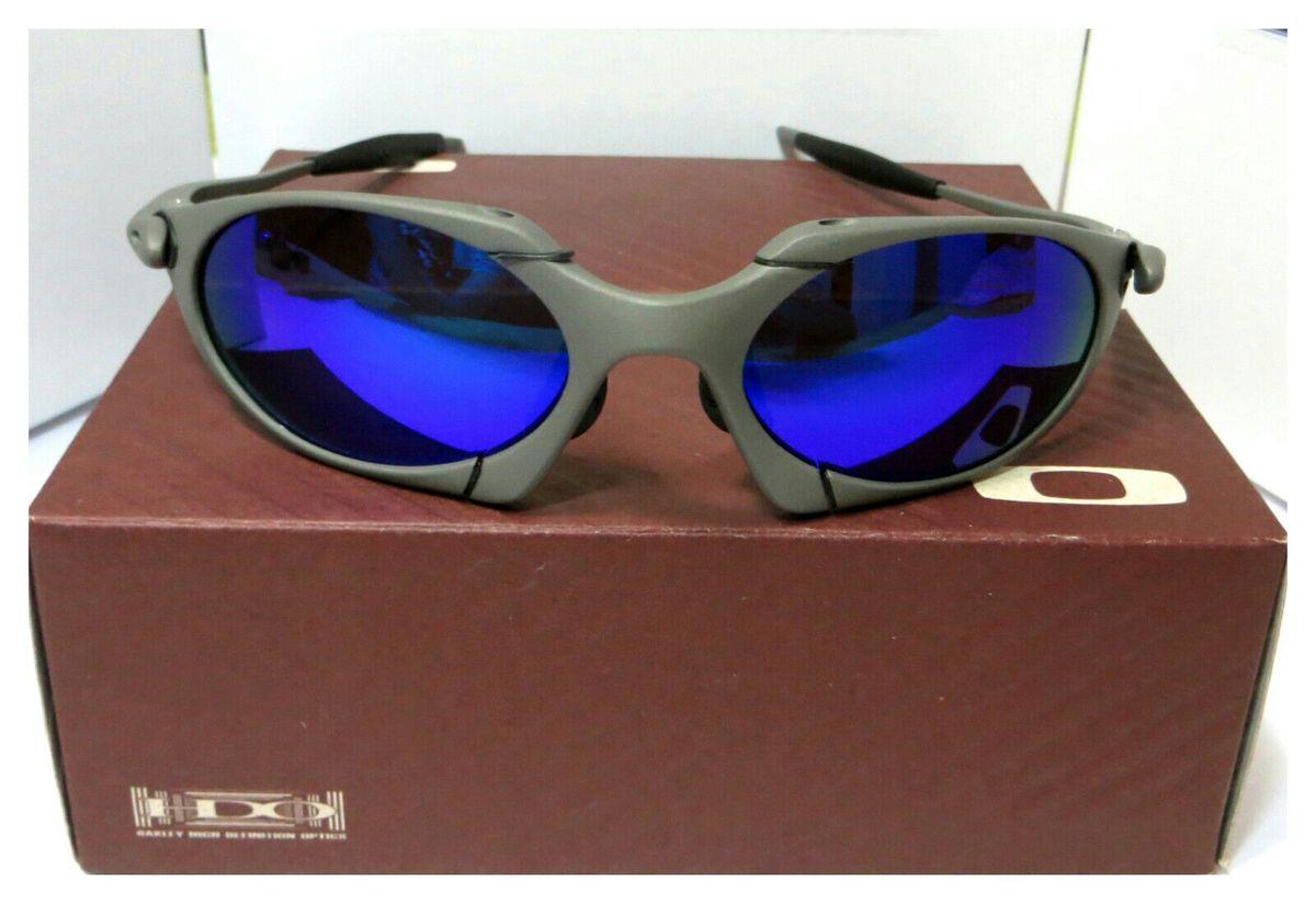4495b8592 óculos de sol oakley romeo 1 azul xmetal polarizada novo na caixa - óculos  oakley