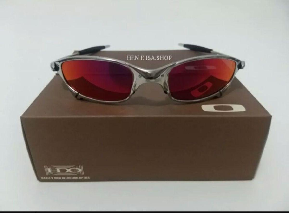 f2af22acb óculos de sol oakley juliet xmetal cromada ruby unissex novo na caixa -  óculos ray-