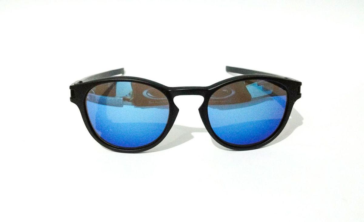 c5945ca98b740 óculos de sol oakley round espelhado azul latch squared masculino - óculos  oakley