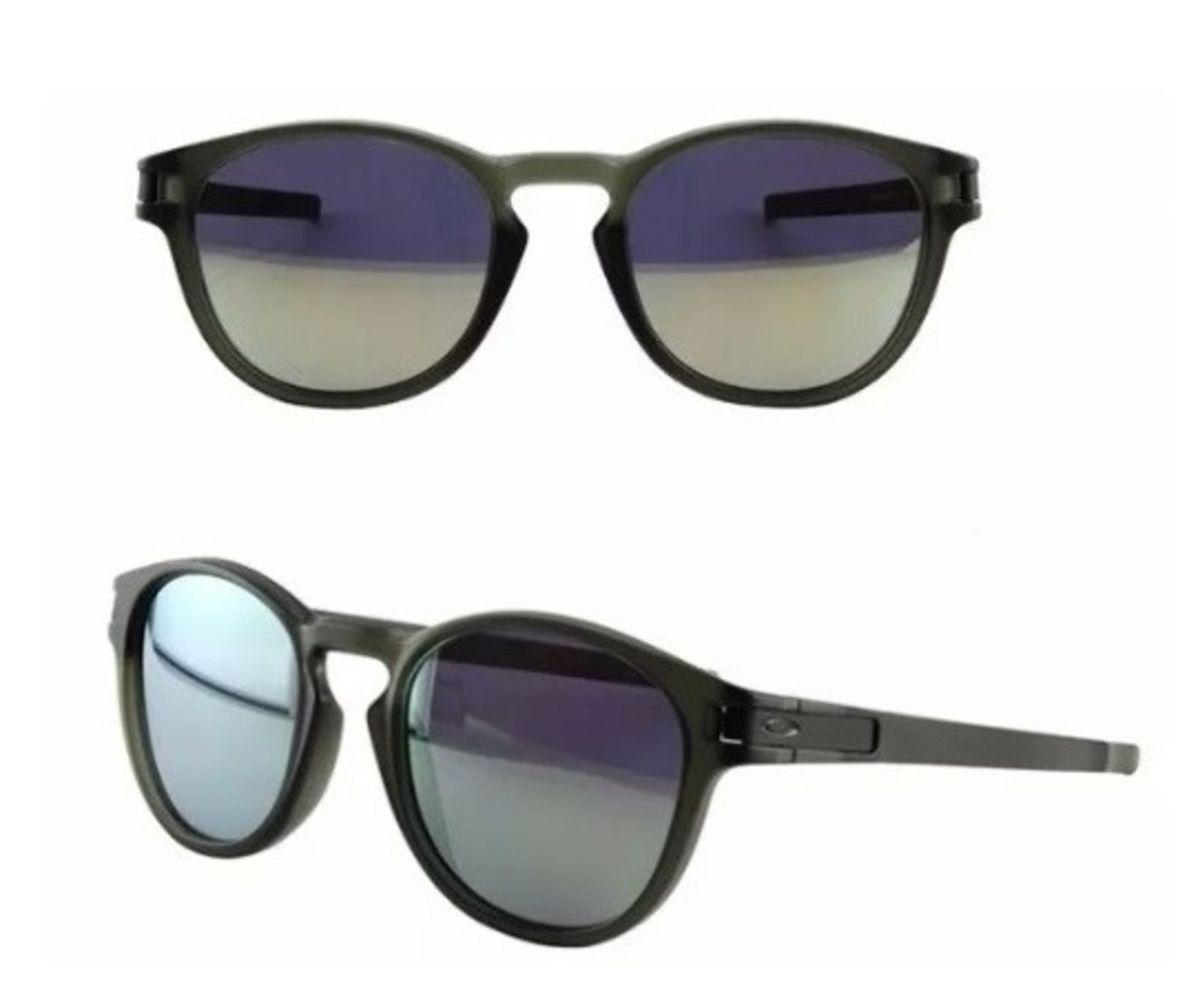 óculos de sol oakley round preto fosco latch squared - óculos oakley 12c05b7794