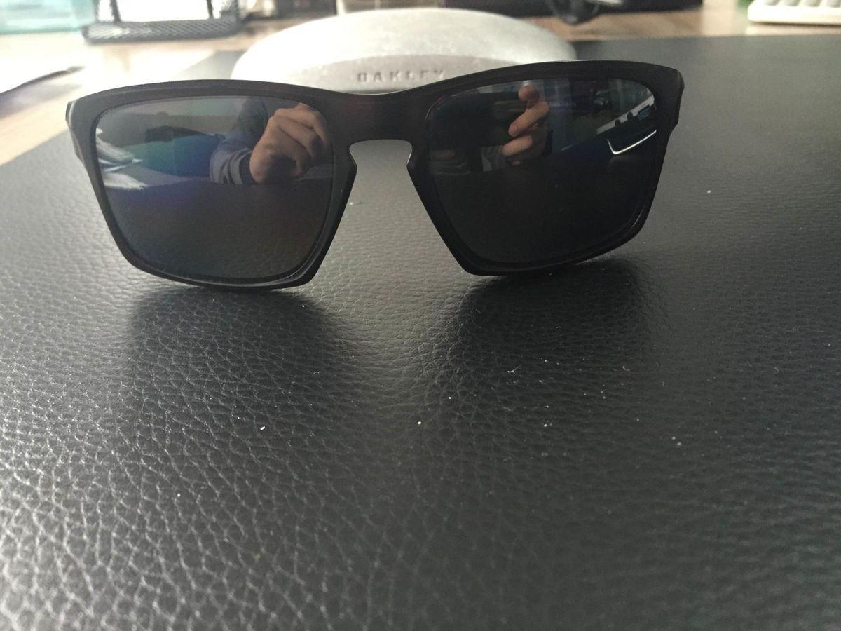 aabf798cf5b7c óculos de sol oakley silver f lente polarizada preto fosco - óculos oakley
