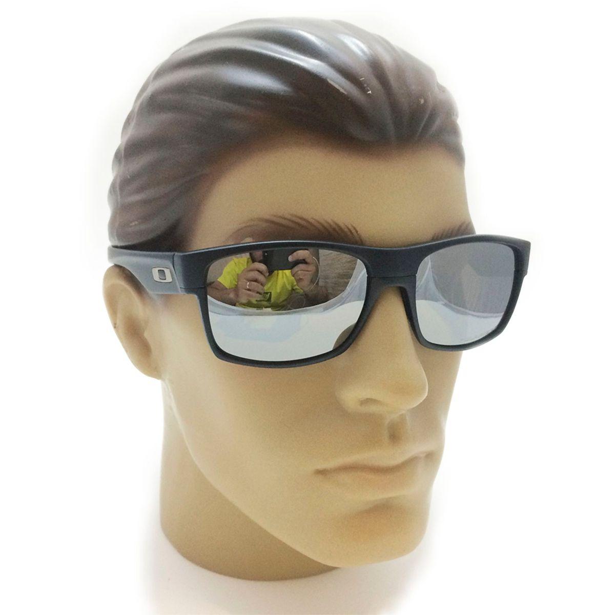 728876c769e3e óculos de sol oakley twoface preto fosco com lente prata - óculos oakley