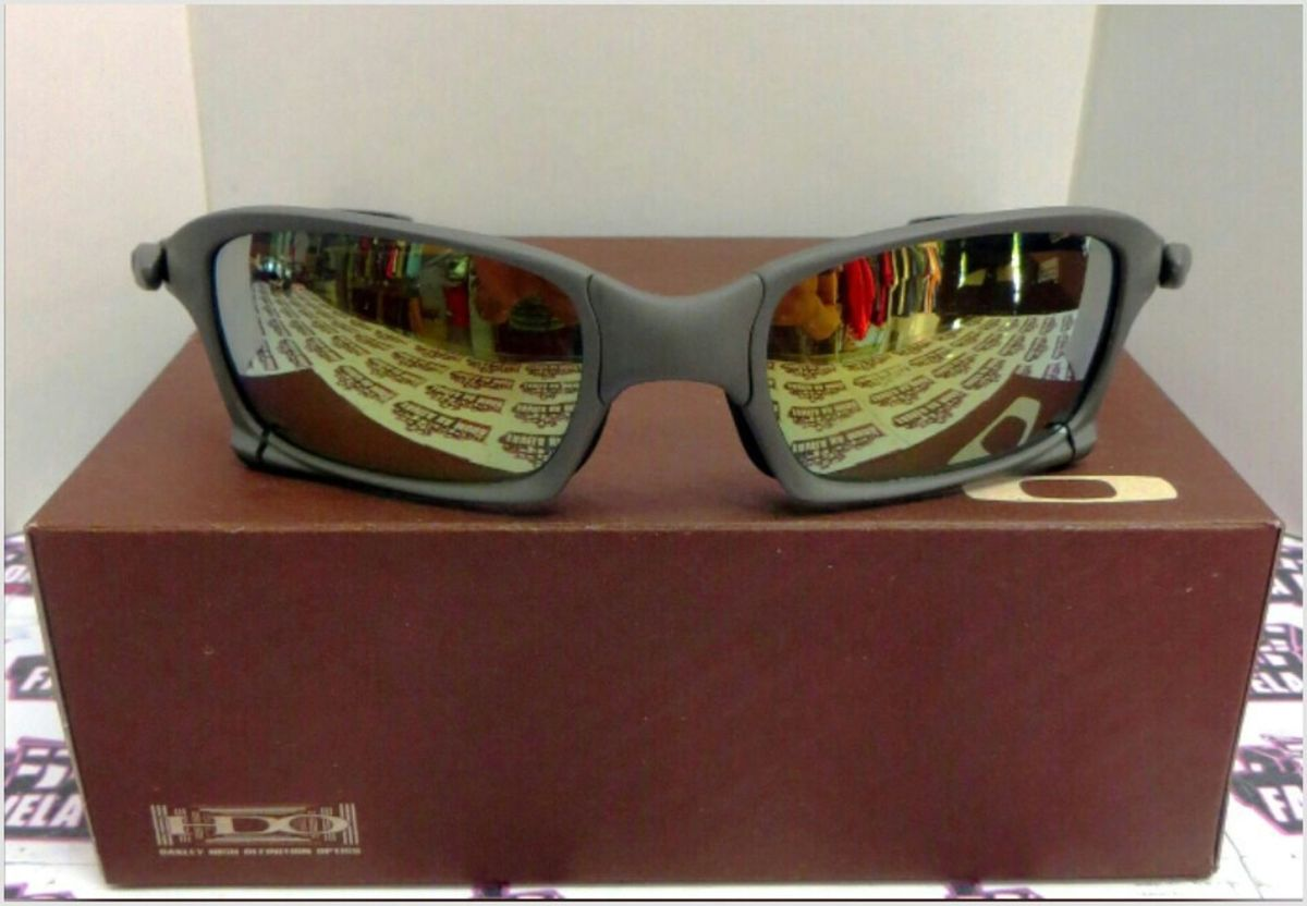 6428f995c7c17 óculos de sol oakley xsquared xmetal lente dourada novo na caixa - óculos  oakley