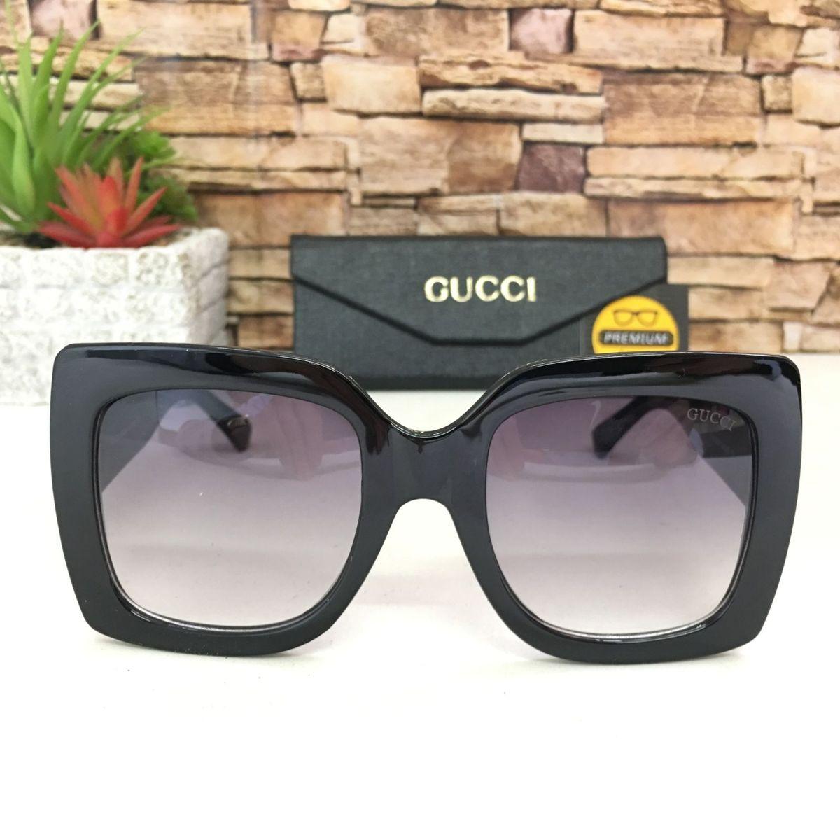 187e1b5e4 Oculos de Sol Preto Quadrado | Óculos Feminino Gucci Nunca Usado 30956310 |  enjoei