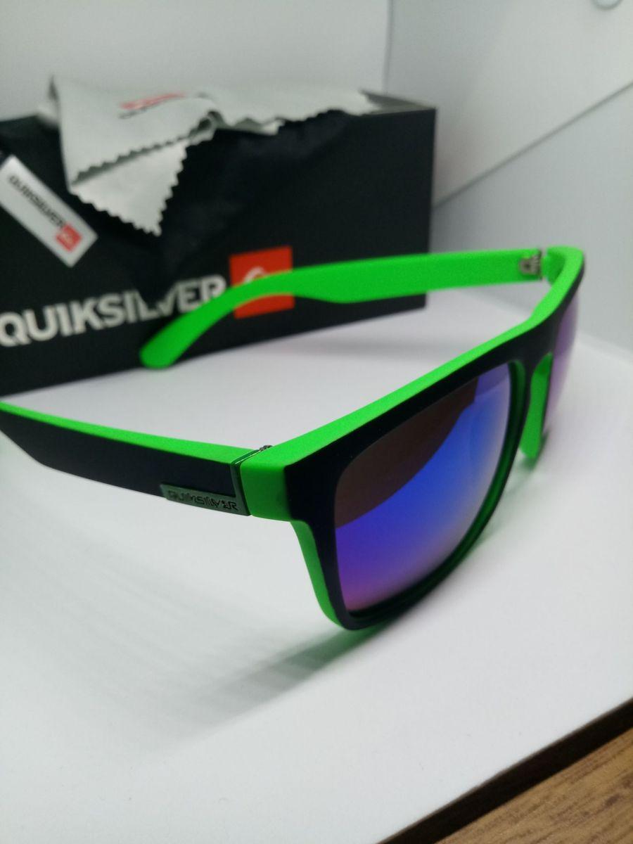 dfe473388b6b7 óculos de sol quiksilver the ferris verde lente azul espelhado - óculos  quiksilver