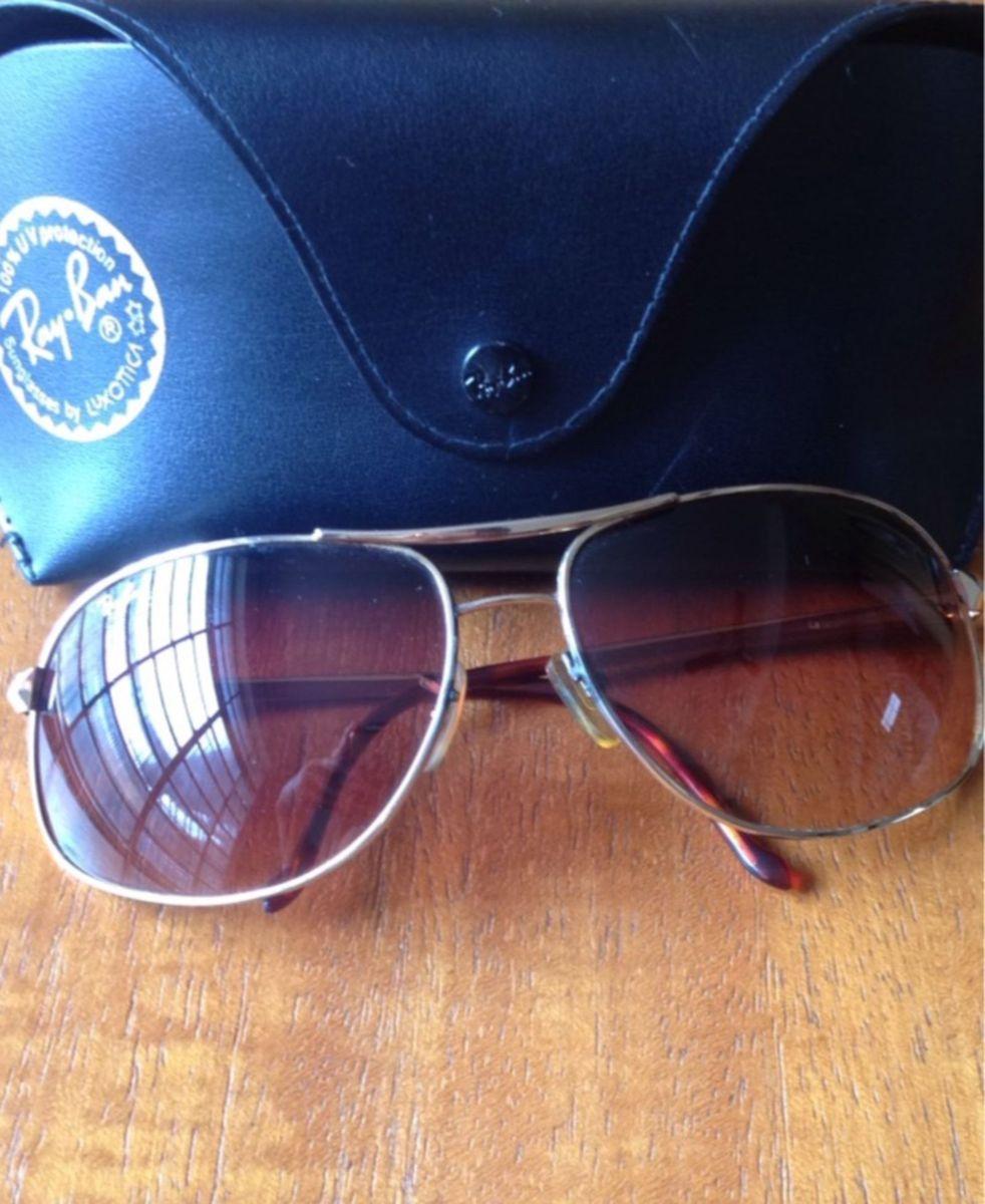Óculos de Sol Ray Ban 3387 Dourado Marrom   Óculos Feminino Ray Ban ... 7b09087003