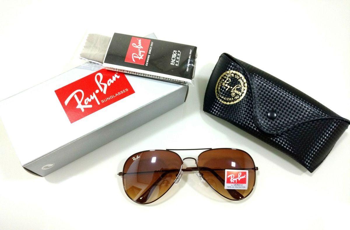 Óculos de Sol Ray-ban Aviador 3026 Marrom Escuro Cobre Masculino e Feminino  Importado   Óculos Feminino Ray Ban Nunca Usado 30196075   enjoei 5b26e7581f