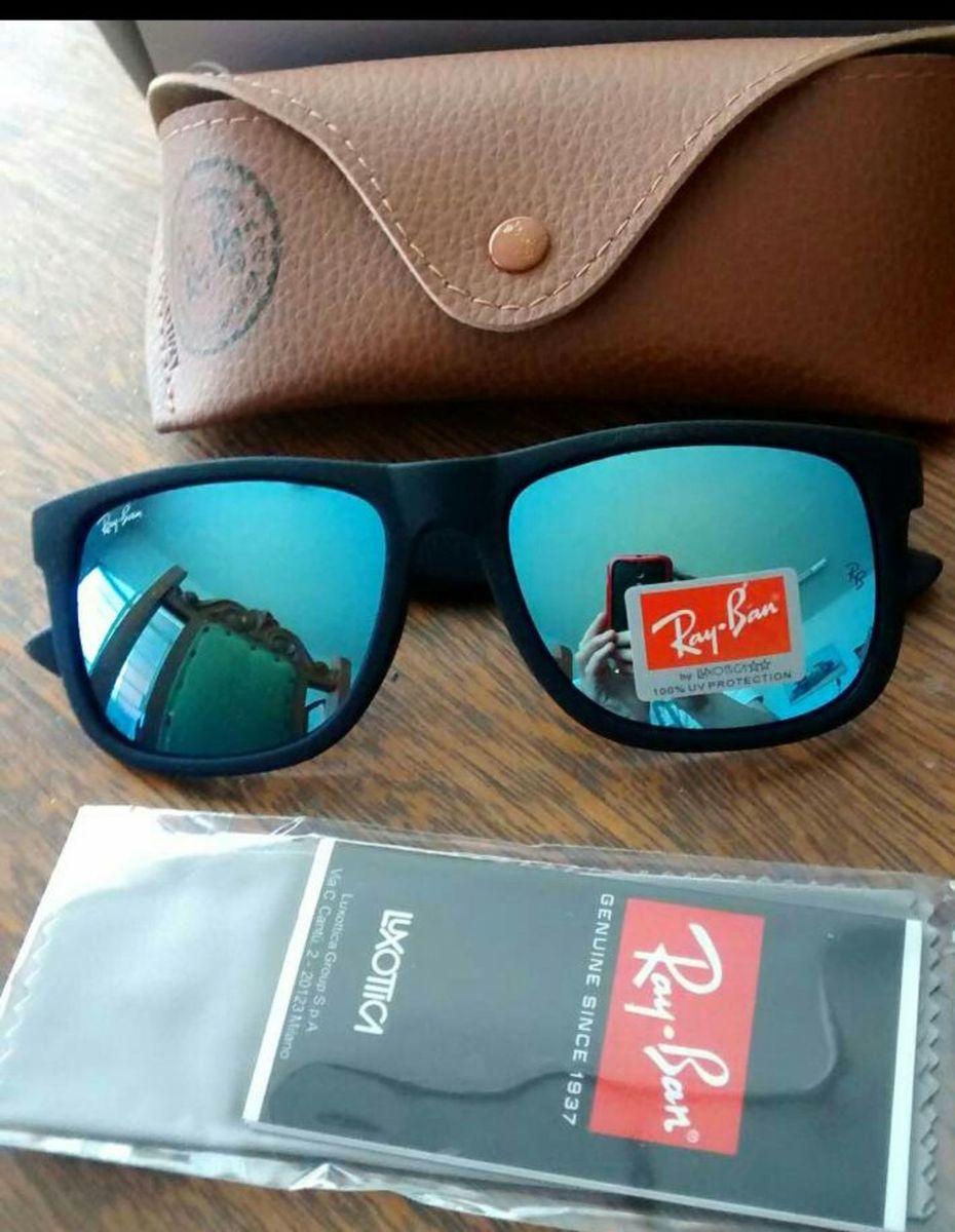 cd2e45a158292 óculos de sol ray ban azul espelhado justin polarizado - óculos ray-ban