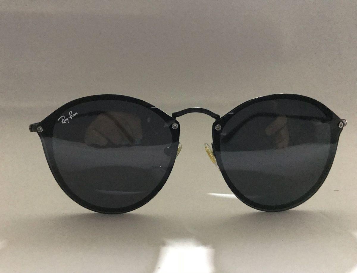 9a5fb294d0f35 óculos de sol ray-ban blaze round preto redondo feminino masculino - óculos  ray-