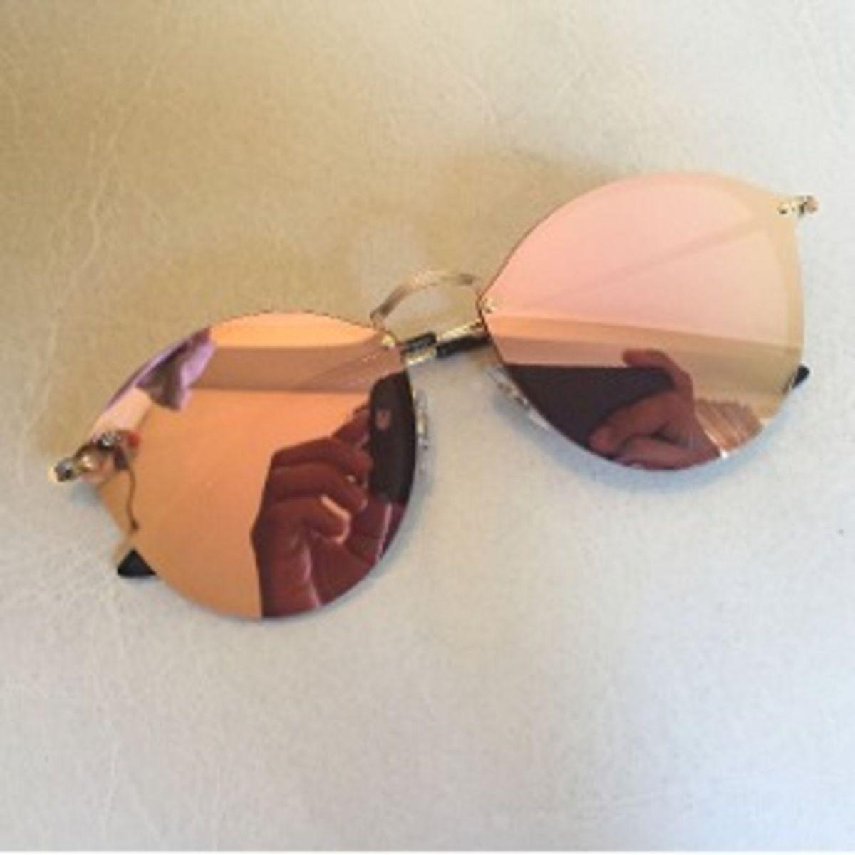 Oculos de Sol Ray-ban Blaze Round Rosa Espelhado   Óculos Feminino ... 5d192396b7