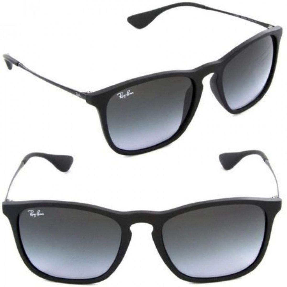 11ab75fb50c90 Oculos de Sol Ray-ban Chris Preto Degrade Polarizado Masculino Feminino