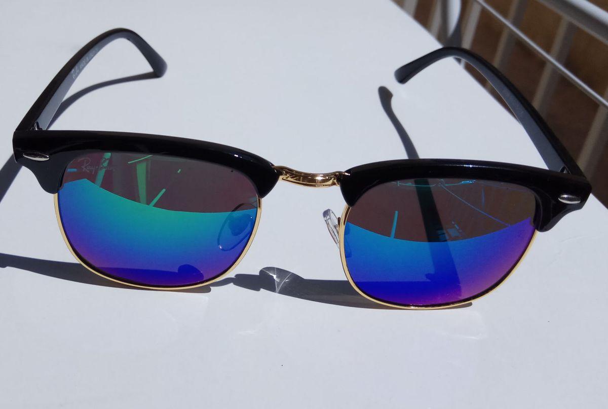334a7243d5028 óculos de sol ray ban club master verde espelhado - óculos ray-ban