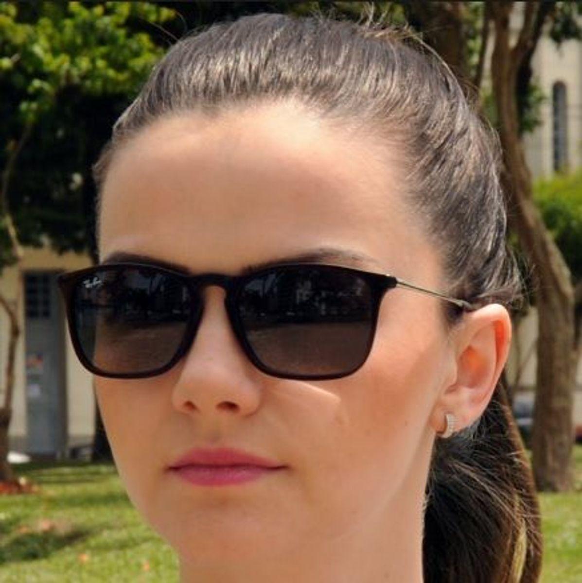 688d0920b óculos de sol ray-ban cris preto fosco lente degradê feminino chris - óculos  rayban
