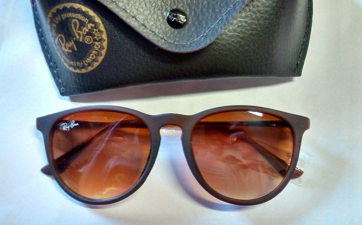 Óculos de Sol Ray Ban Erika Marrom   Óculos Feminino Ray Ban Nunca ... c219bc8cd0