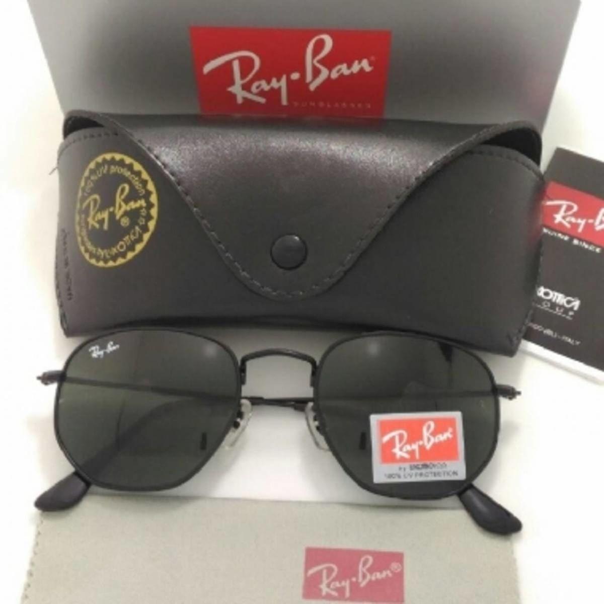 58a1271e8 Óculos de Sol Ray Ban Hexagonal Preto Masculino Feminino | Óculos Feminino  Nunca Usado 28406094 | enjoei