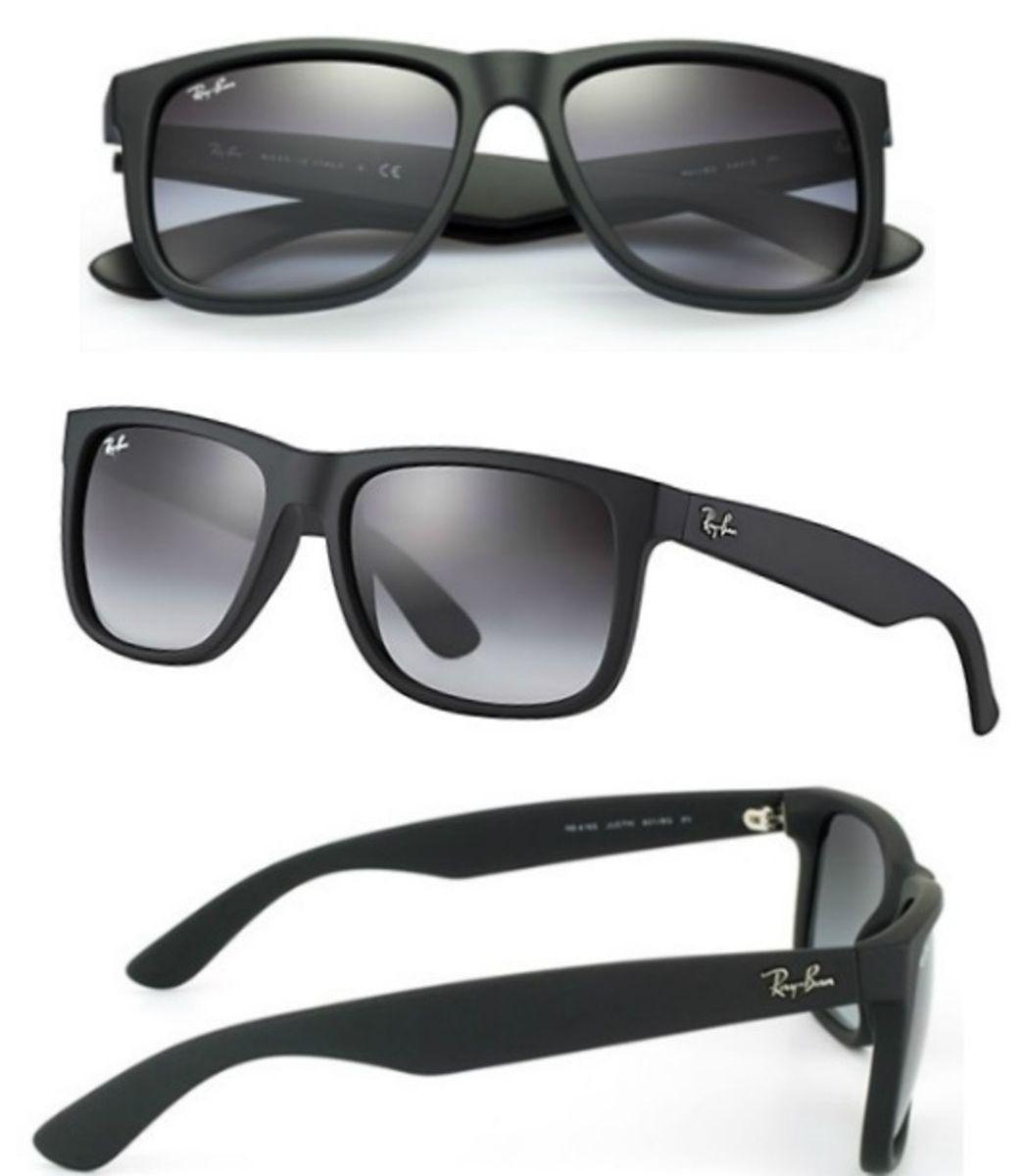 óculos de sol ray ban justin 4165 preto degradê masculino - óculos sem marca 66cfe87300