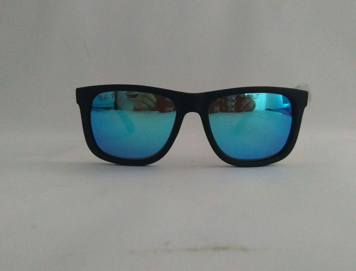 646aa6d5c523b óculos de sol ray ban justin azul espelhado lançamento masculino feminino - óculos  ray-ban