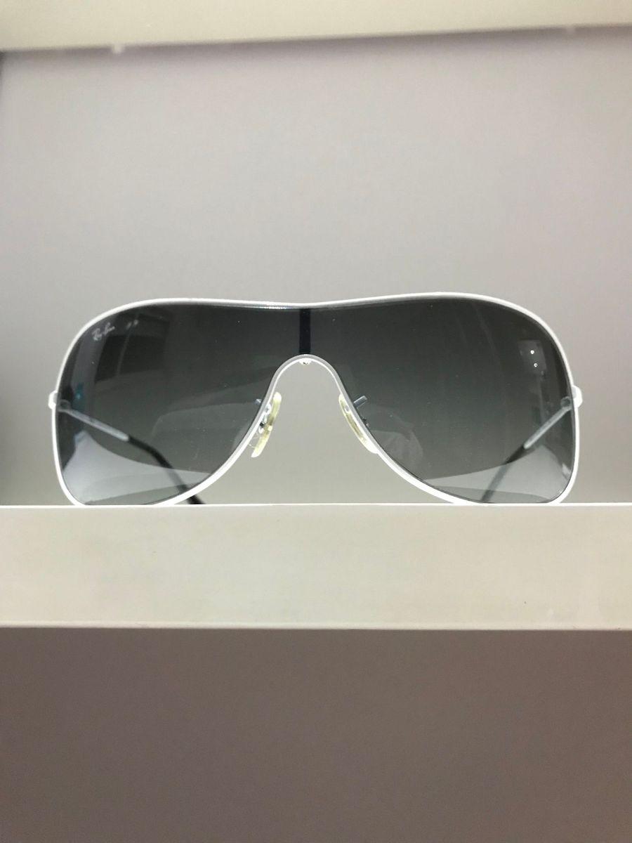8c78b1db2 Óculos de Sol Ray Ban Máscara Branco | Óculos Feminino Ray Ban Usado ...