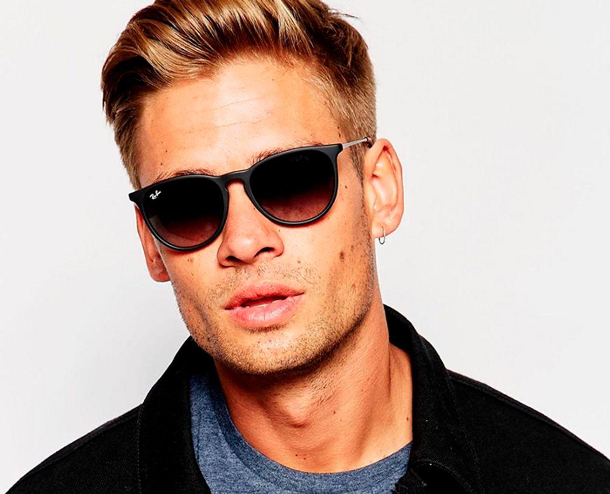 82327d9fd óculos de sol ray-ban masculino erika velvet preto fosco lente degradê  clássico - óculos