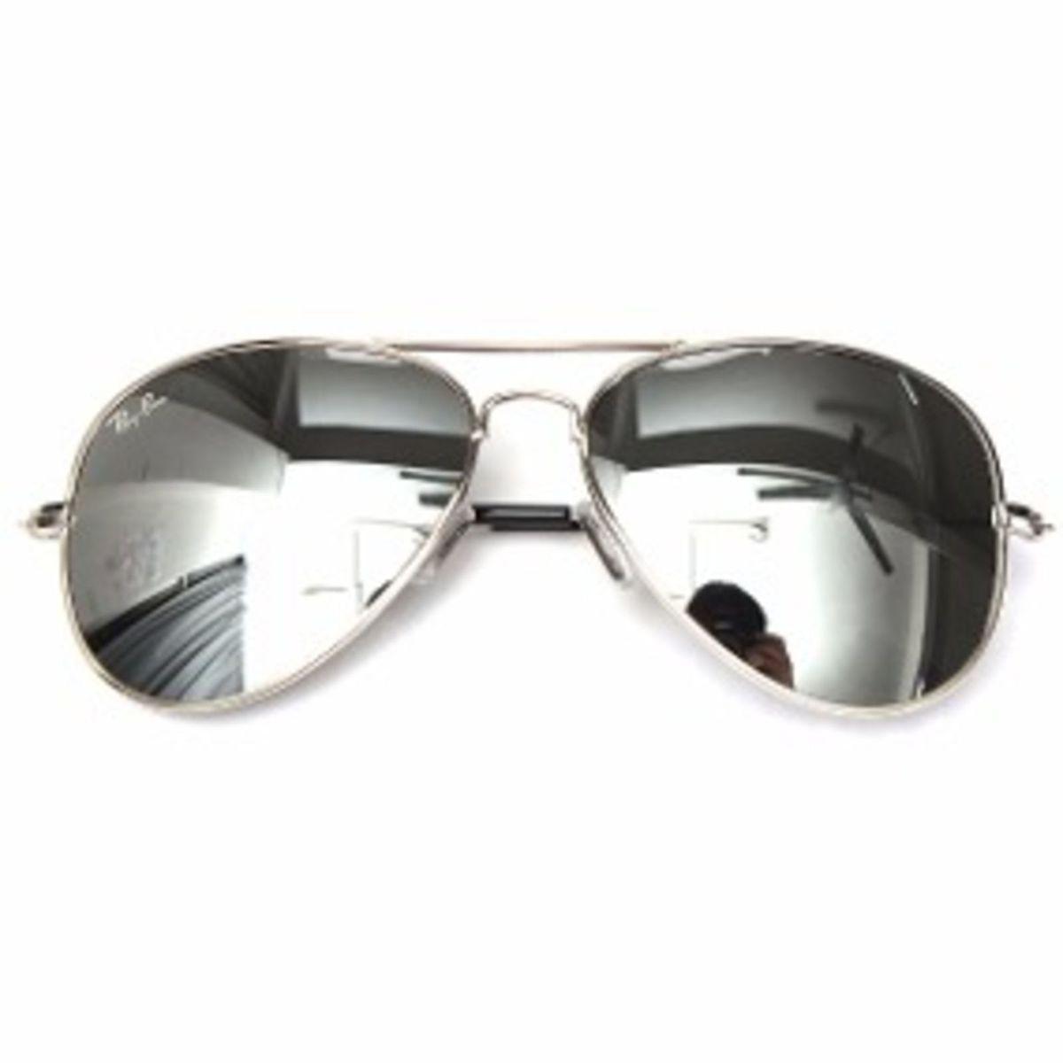 óculos de sol ray ban prata espelhado feminino masculino - óculos ray-ban 6abca3e595
