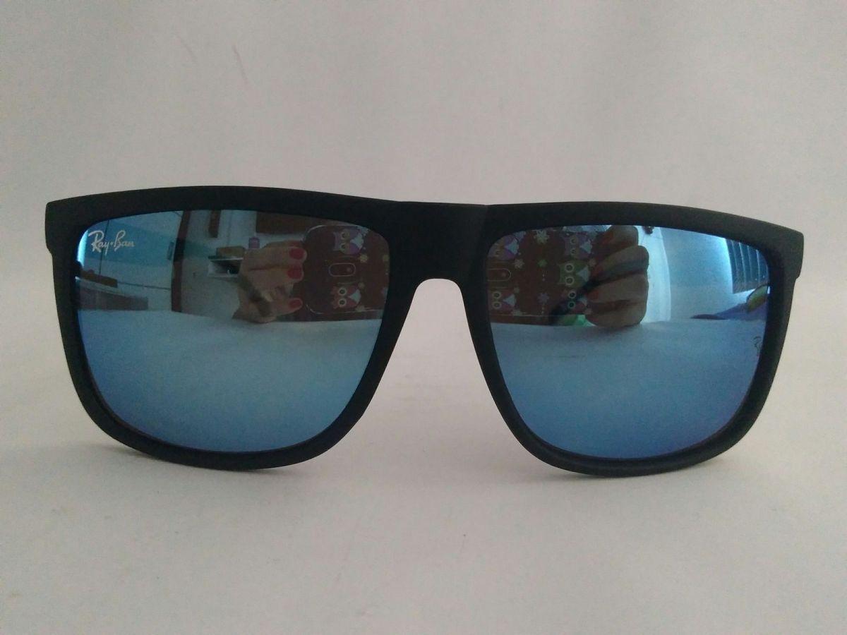 ab6df176e56f2 Óculos de Sol Ray Ban Quadrado Azul Espelhado Lançamento Verão 2018   Óculos  Masculino Ray Ban Nunca Usado 25205300   enjoei