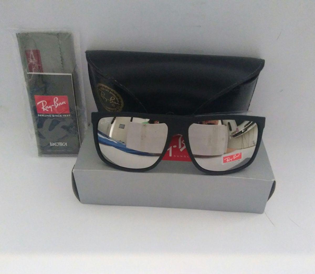 75f1b4a53 óculos de sol ray ban quadrado prata espelhado lançamento!!! - óculos ray-